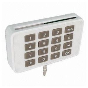 Audio jack smart card reader with PIN pad with EMV L1 and L2